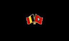 Spilla dell'amicizia Belgio - Svizzera - 22 mm