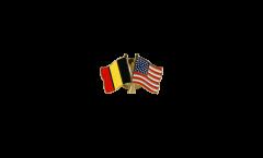 Spilla dell'amicizia Belgio - USA - 22 mm