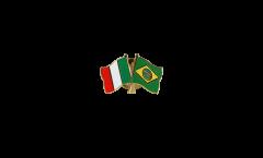 Spilla dell'amicizia Italia - Brasile - 22 mm