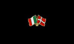 Spilla dell'amicizia Italia - Danimarca - 22 mm
