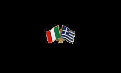 Spilla dell'amicizia Italia - Grecia - 22 mm