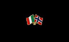 Spilla dell'amicizia Italia - Norvegia - 22 mm