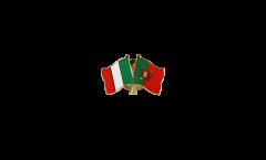 Spilla dell'amicizia Italia - Portogallo - 22 mm