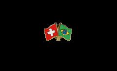 Spilla dell'amicizia Svizzera - Brasile - 22 mm