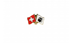 Spilla dell'amicizia Svizzera - Francia Corsica - 22 mm