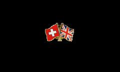 Spilla dell'amicizia Svizzera - Regno Unito - 22 mm