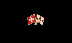 Spilla dell'amicizia Svizzera - Regno Unito Guernsey - 22 mm