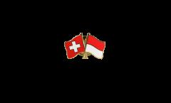 Spilla dell'amicizia Svizzera - Indonesia - 22 mm