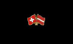 Spilla dell'amicizia Svizzera - Lettonia - 22 mm