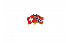Spilla dell'amicizia Svizzera - Norvegia - 22 mm
