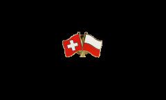 Spilla dell'amicizia Svizzera - Polonia - 22 mm