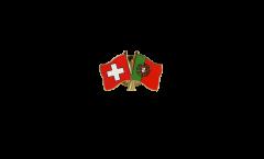 Spilla dell'amicizia Svizzera - Portogallo - 22 mm
