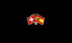 Spilla dell'amicizia Svizzera - Spagna - 22 mm