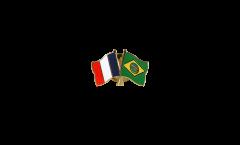 Spilla dell'amicizia Francia - Brasile - 22 mm