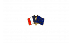 Spilla dell'amicizia Francia - Unione Europea EU - 22 mm