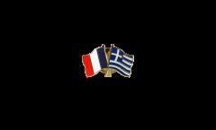 Spilla dell'amicizia Francia - Grecia - 22 mm