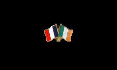 Spilla dell'amicizia Francia - Irlanda - 22 mm