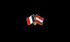 Spilla dell'amicizia Francia - Lettonia - 22 mm