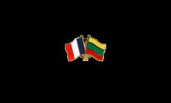 Spilla dell'amicizia Francia - Lituania - 22 mm