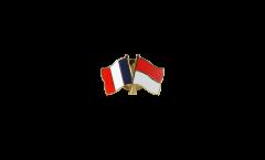 Spilla dell'amicizia Francia - Principato di Monaco - 22 mm