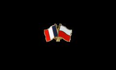 Spilla dell'amicizia Francia - Polonia - 22 mm
