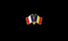 Spilla dell'amicizia Francia - Romania - 22 mm