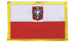 Applicazione Polonia con aquila - 8 x 6 cm
