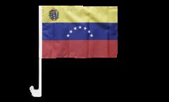 Bandiera per auto Venezuela 7 Stelle con stemma 1930-2006 - 30 x 40 cm