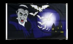 Bandiera da balcone Halloween Vampiro e pipistrelli - 90 x 150 cm