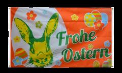 Bandiera da balcone Frohe Ostern Coniglietto di Pasqua - 90 x 150 cm