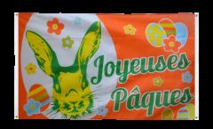 Bandiera da balcone Joyeuses Pâques - Buona Pasqua - 90 x 150 cm