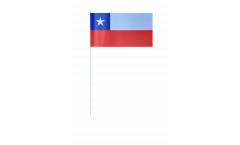 Bandiera di Carta Cile - 12 x 24 cm