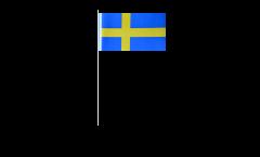 Bandiera di Carta Svezia - 12 x 24 cm