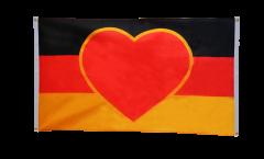 Bandiera da balcone Bandiera cuore Germania - 90 x 150 cm