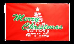 Bandiera da balcone Merry Christmas Albero di Natale - 90 x 150 cm