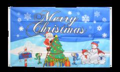 Bandiera da balcone Merry Christmas Polo Nord - 90 x 150 cm