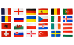 Calcio 2016 set di bandiere - 90 x 150 cm