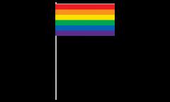 Bandiera di Carta Arcobaleno - 12 x 24 cm