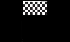 Bandiera di Carta a quadri bianchi-neri - 12 x 24 cm