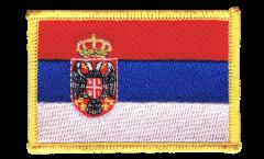 Applicazione Serbia con stemmi - 8 x 6 cm