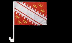 Bandiera per auto Francia Alsazia nuova - 30 x 40 cm