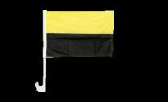 Bandiera per auto gialla-nera - 30 x 40 cm