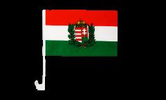 Bandiera per auto Ungheria con stemma - 30 x 40 cm