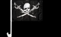 Bandiera per auto Pirata con sciabola - 30 x 40 cm