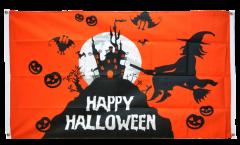 Bandiera da balcone Happy Halloween arancia - 90 x 150 cm