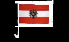 Bandiera per auto Austria con aquila - 30 x 40 cm