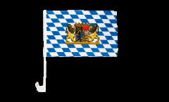 Bandiera per auto Germania Baviera con leone - 30 x 40 cm