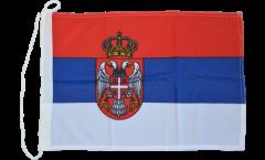 Bandiera da barca Serbia con stemmi - 30 x 40 cm