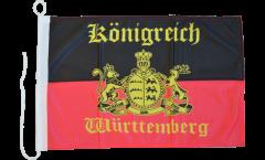 Bandiera da barca Germania Württemberg 4 - 30 x 40 cm