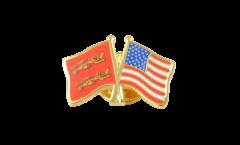 Spilla dell'amicizia Basse Normandie - USA - 22 mm